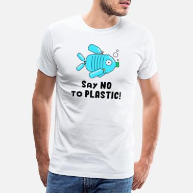 Save The World Plastikmüll Plastic Waste Fish Meere Verschmutzung - Männer Premium T-Shirt