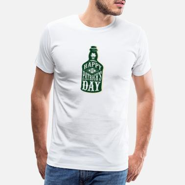 I Love Bier St. Patricks Day Green Irish Irland beer Bier - Männer Premium T-Shirt