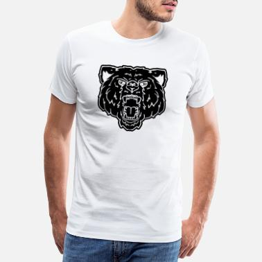 Gay Hairy Bear bear forest canada gay gay woof head teddy - Men's Premium T-Shirt