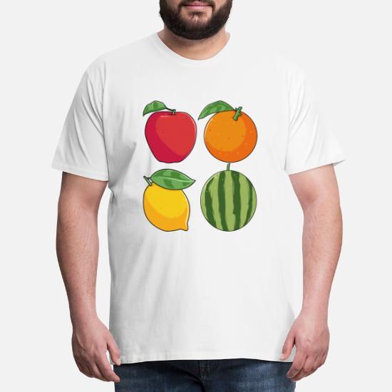 Frukt deilig sunn frukt vitamin gave Premium T skjorte for