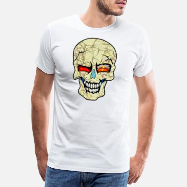 Deaths Head wild skull art design tshirt - Männer Premium T-Shirt