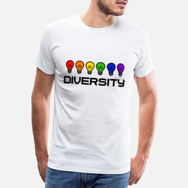 Diversity Diversity LGBT Gay Pride Bulbs Rainbow - Men's Premium T-Shirt