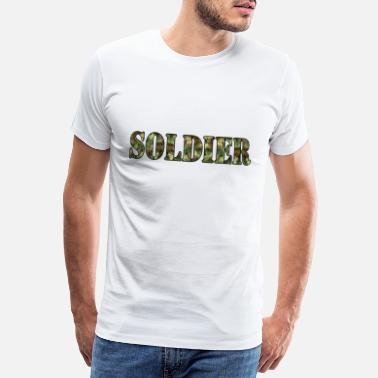 Soldier Of Fortune Soldier Soldat Kämpfer Army Camouflage - Männer Premium T-Shirt
