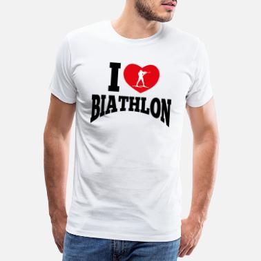 Take Off Plane Biathlon love | I love biathlon gift - Men's Premium T-Shirt