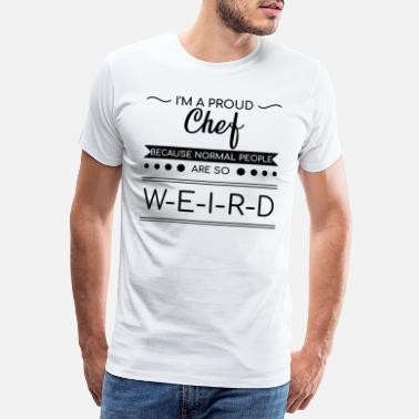 Restaurant Christmas Birthday Proud Chef Cooking Cook Gastronomy Gift BBQ - Men's Premium T-Shirt