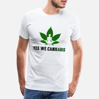 Yes We Cannabis Ja vi cannabis hampa blad - Premium-T-shirt herr