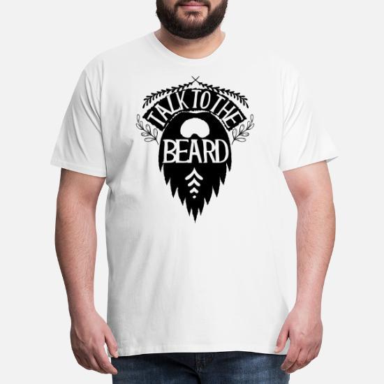 027f06b4e Talk to the beard Men's Premium T-Shirt   Spreadshirt