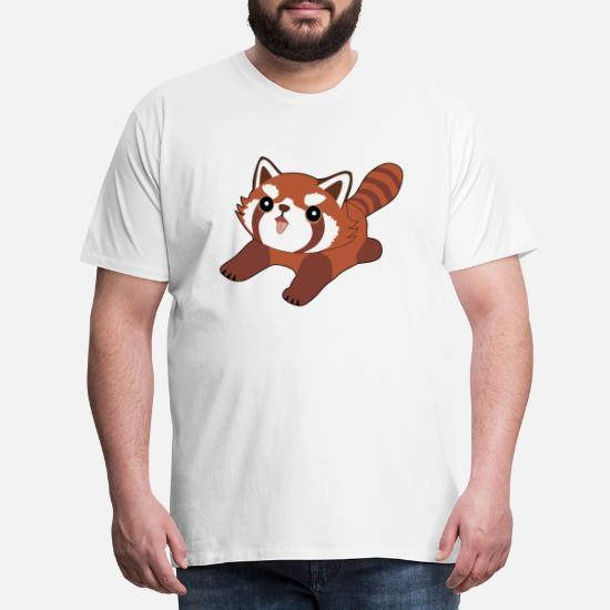 Rød panda Premium T skjorte for menn | Spreadshirt