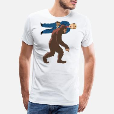 Cling Bigfoot Removes Trump From Office Funny Politics - Men's Premium T-Shirt