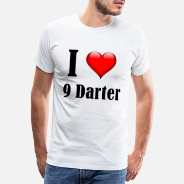 9 Darter i love 9 darter - Men's Premium T-Shirt
