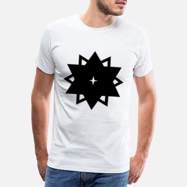 Husband Buddy Tribal star dodecagon polygon dodecagon gift - Men's Premium T-Shirt