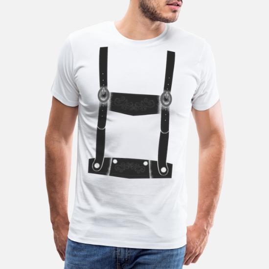 Sconto del 60% aspetto estetico bello e affascinante camicia bretelle Lederhosen Maglietta premium uomo | Spreadshirt