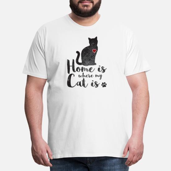 finest selection 3baf9 4099b Gatti camicia La casa è dove il mio gatto è Maglietta ...