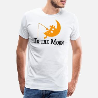 Bitcoin -To The Moon - Men's Premium T-Shirt