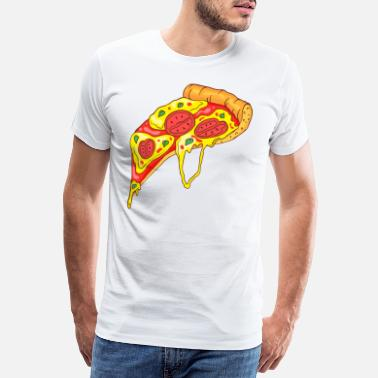 Pepperoni pizza - Herre premium T-shirt