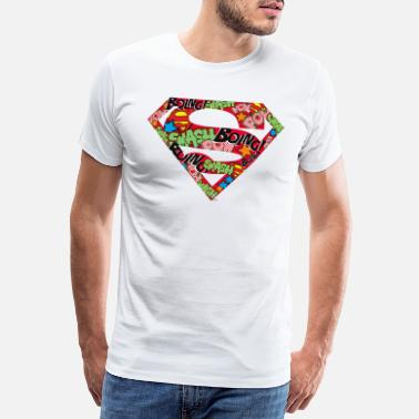 Superman DC Comics Superman Classic Logo Soundwords - Premium T-shirt mænd