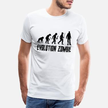 Zombie Evolution Evolution Zombie - Men's Premium T-Shirt