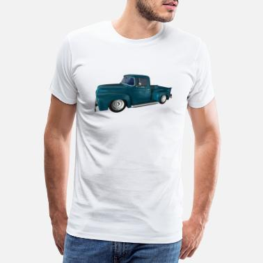 Pick Up Van Classic Car, Pickup, V8, Vintage - Men's Premium T-Shirt
