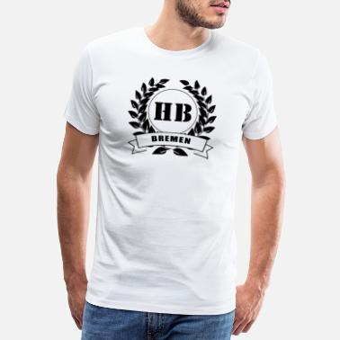 Laurel Wreath Bremen Hanseatic city laurel wreath - Men's Premium T-Shirt