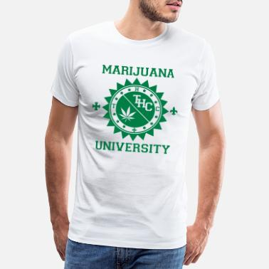 Cannabis Marijuana University - T-shirt premium Homme