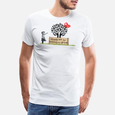 Wachstum dankeschön | thank you for helping me grow - Männer Premium T-Shirt
