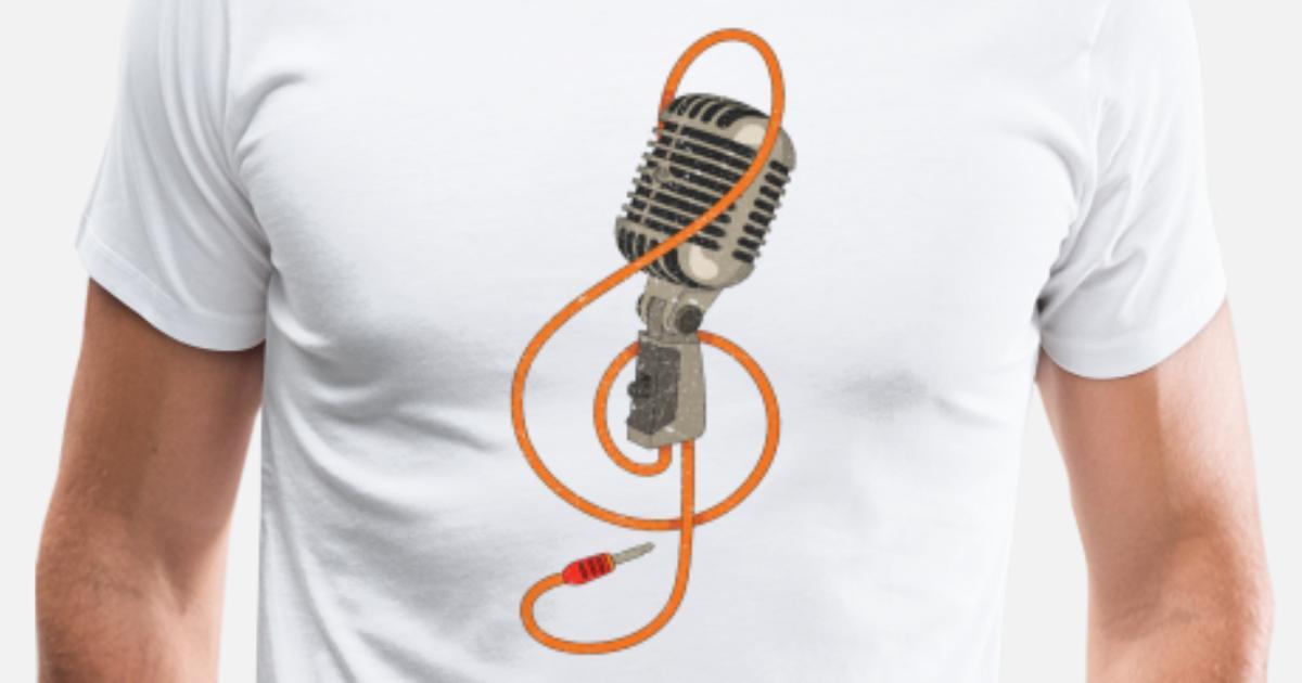 Retro mikrofon vintage karaokesanger DJ gave Premium T