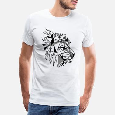 Polygon Polygon Lion - Men's Premium T-Shirt