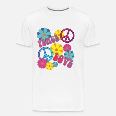 Flower Power Hippie T Shirt