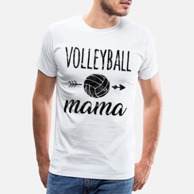Beachvolley Volleyboll mamma - Premium T-shirt herr