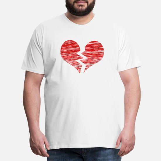 8ca357d3 knust hjerte knust hjerte kærlighed gave Premium T-shirt mænd ...