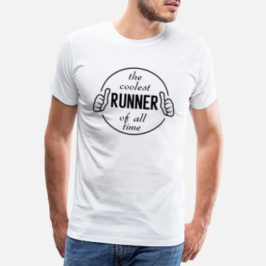 Courrier Le plus cool des coureurs footing course à pied - T-shirt premium Homme
