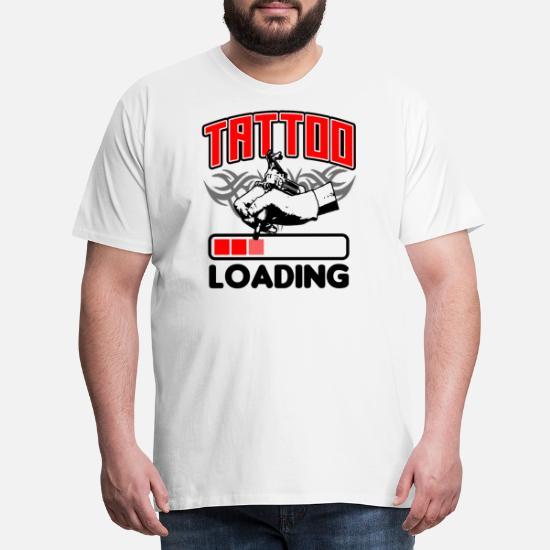 Tatuaż W Pracy Z Efektowną Koszulką Premium Koszulka Męska