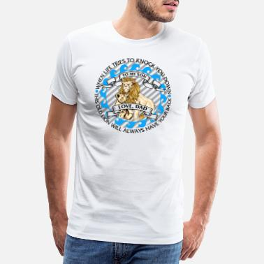 Framtiden Till My Son Boy Love Heart Lion Dramatic Support - Premium T-shirt herr