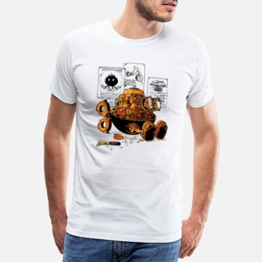 Steampunk work of the genius - T-shirt premium Homme