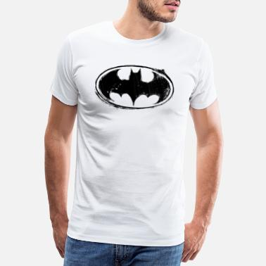 Logo Batman Logo black retro - Mannen premium T-shirt