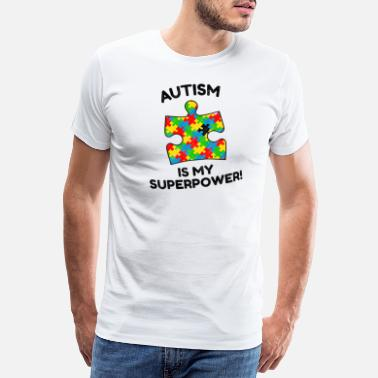 Aspergers Autism Superpower Asperger Disability Gift - Premium T-skjorte for menn