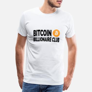 Rikdom Bitcoin Club - Premium T-skjorte for menn