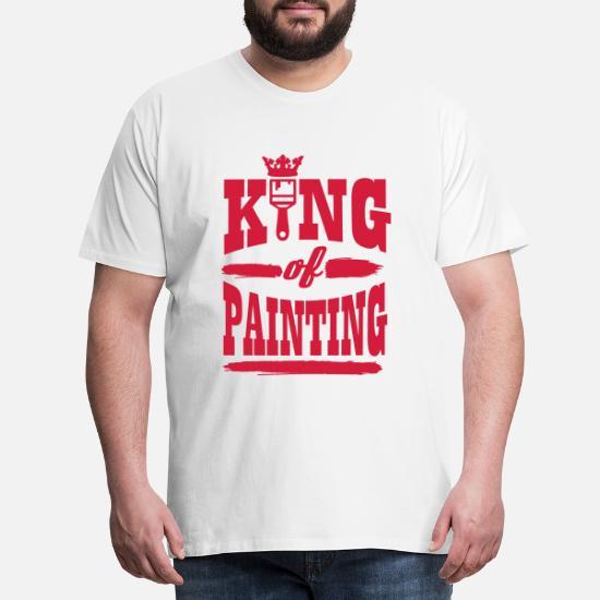 king of painting Premium T shirt herr | Spreadshirt