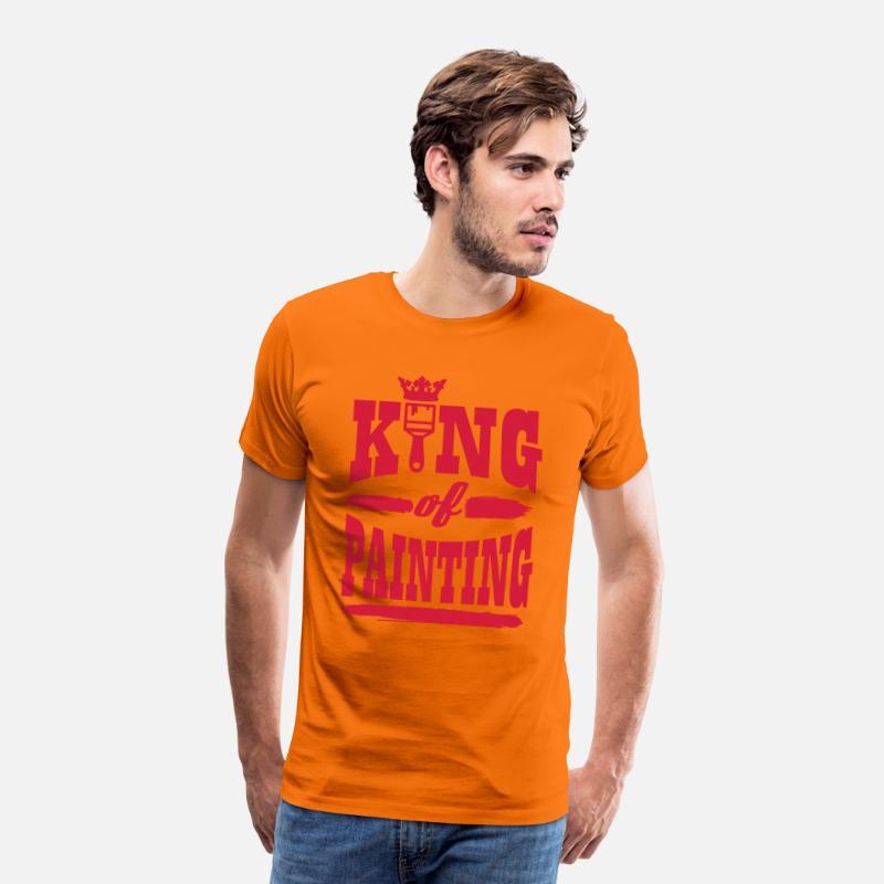 king of painting Premium T shirt herr orange