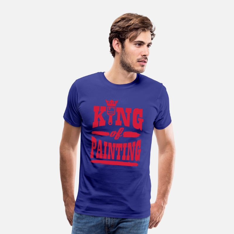 king of painting Premium T shirt herr kungsblå
