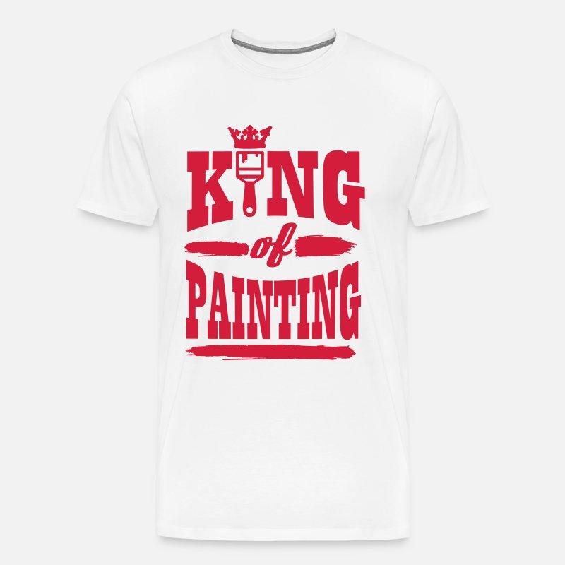 king of painting Premium T shirt herr grågrön