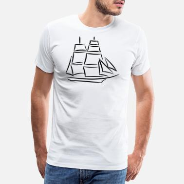 Shipping ship - Men's Premium T-Shirt