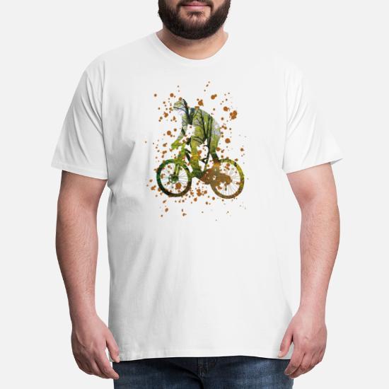 5f1fb227083a8a Rower - Uwielbiam jazdę na rowerze - rower - Premium koszulka męska. Tył.  Tył. Wzór. Przód. Przód