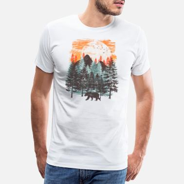 Bear Landscap Forest landscape (Bear) - Men's Premium T-Shirt