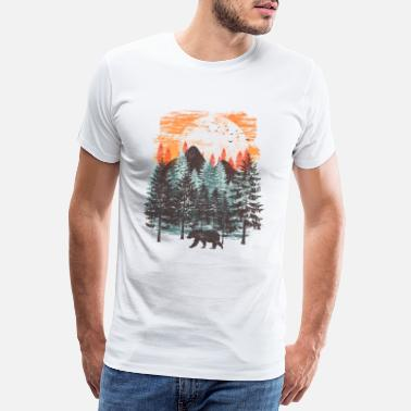 Collections Paysage forestier (ours) - T-shirt premium Homme