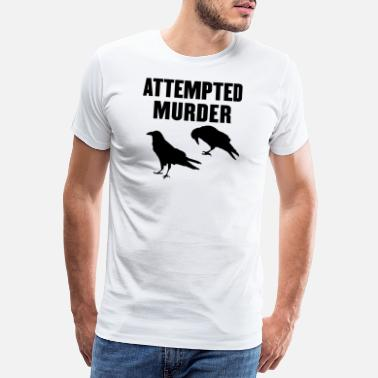 Crow Murder of Crows Pun - Men's Premium T-Shirt