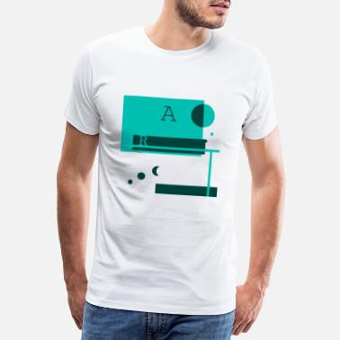 Kreis A Letters and Forms Türkis - Männer Premium T-Shirt