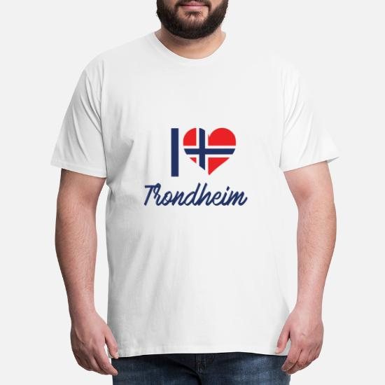 Trondheim, Norge, Fylke, Nidelva, gave Premium T skjorte for