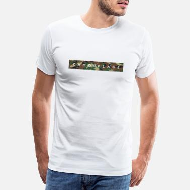 Camouflage camouflage belettering - Mannen Premium T-shirt