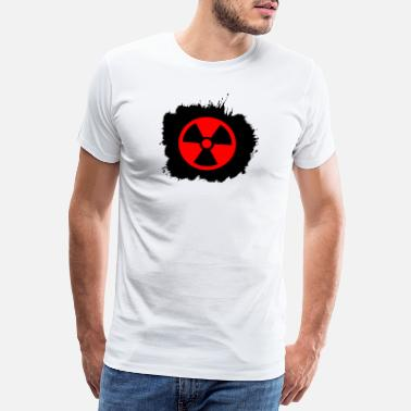 Yellow Radioactivity Symbol Red, red Radioactive, radioactivity symbol - Men's Premium T-Shirt